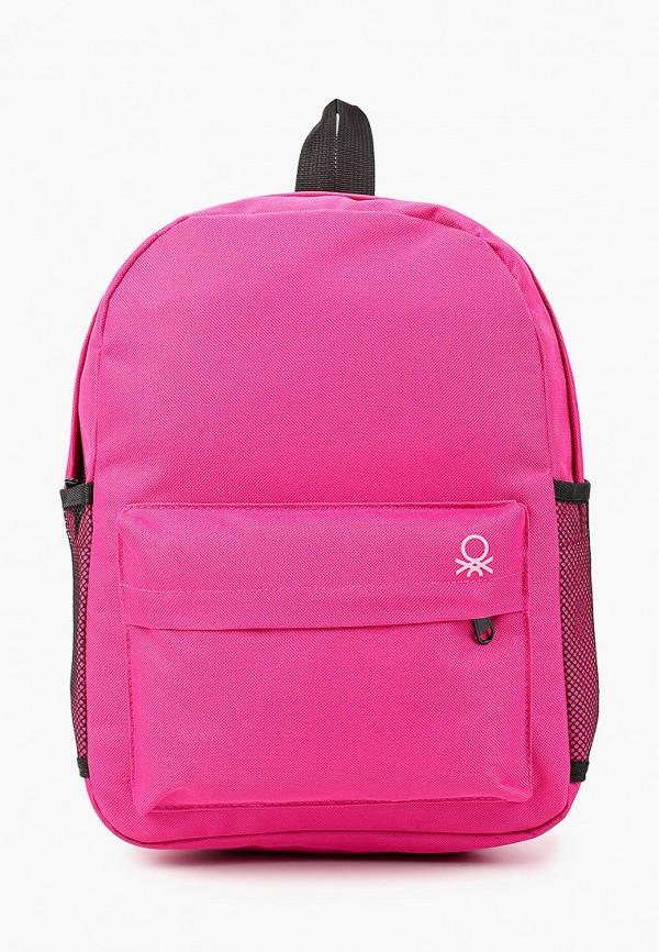 рюкзак united colors of benetton для мальчика, розовый