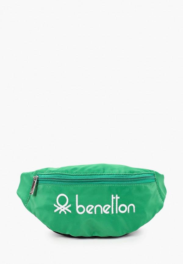поясные сумка united colors of benetton для мальчика, зеленая