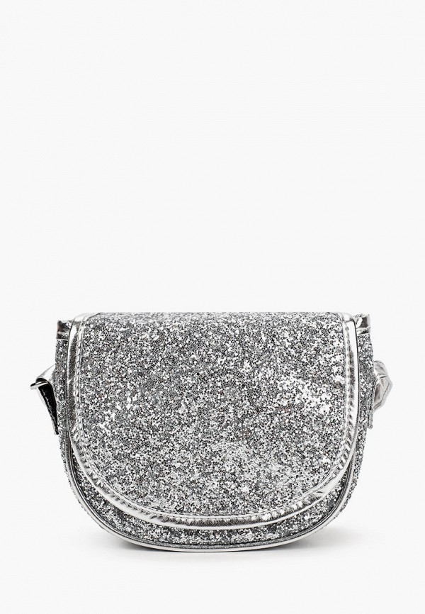сумка united colors of benetton для девочки, серебряная