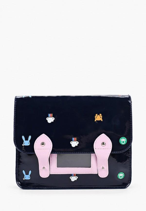 сумка united colors of benetton для девочки, синяя