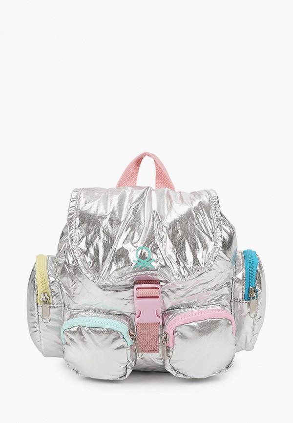 рюкзак united colors of benetton для девочки, серебряный
