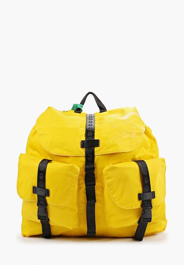 мужской рюкзак united colors of benetton, желтый