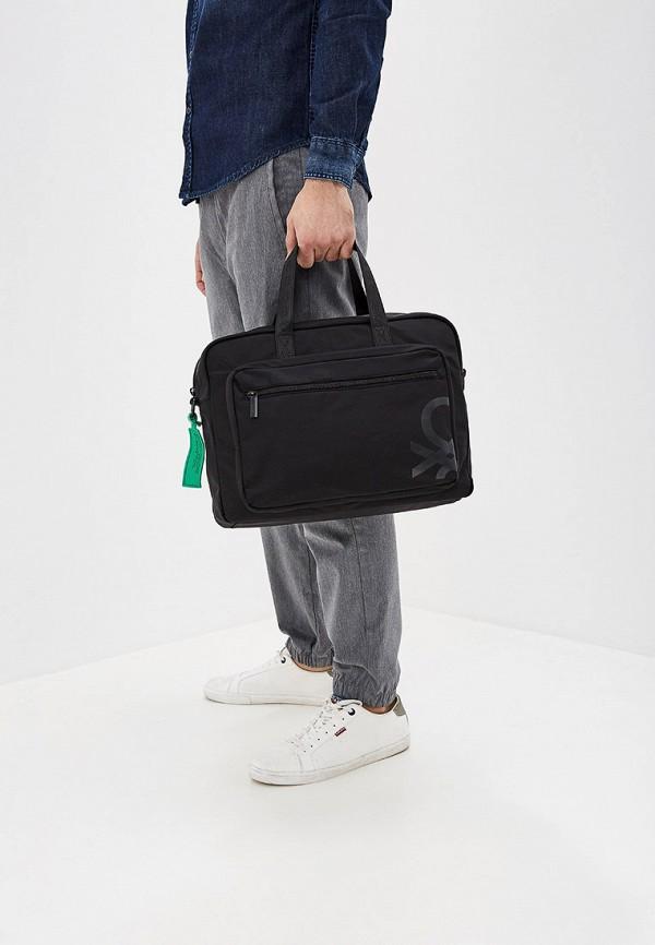 Фото 4 - мужскую сумку United Colors of Benetton черного цвета