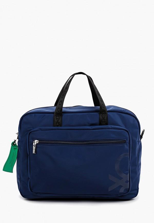 Фото - мужскую сумку United Colors of Benetton синего цвета