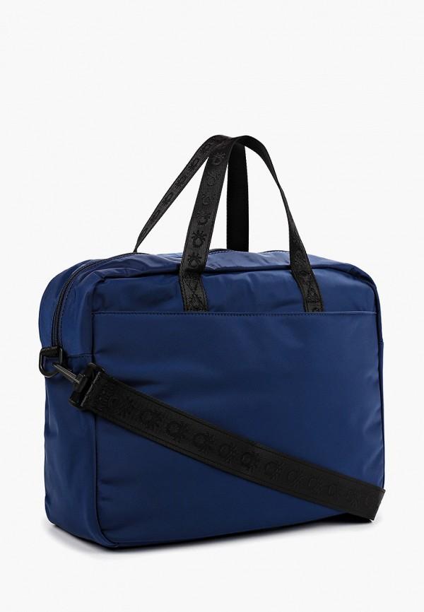 Фото 2 - мужскую сумку United Colors of Benetton синего цвета