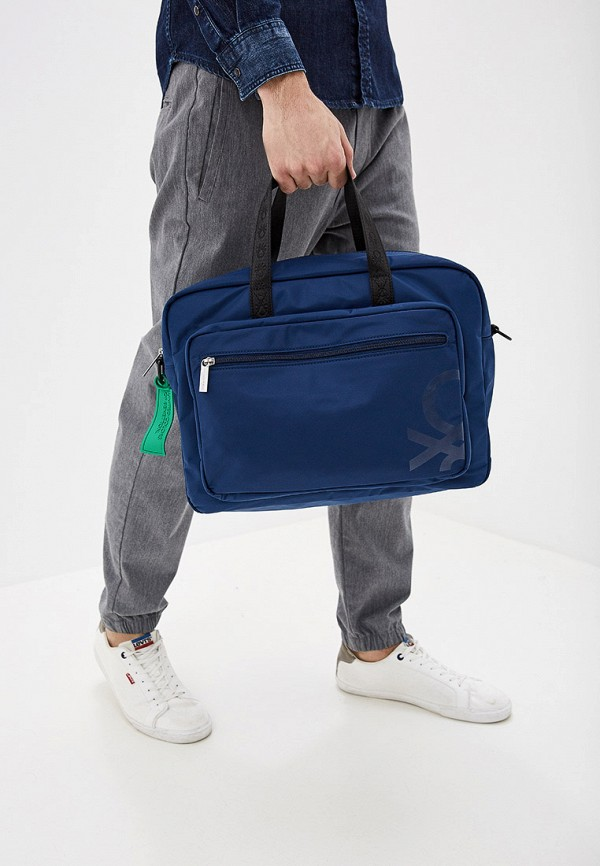 Фото 4 - мужскую сумку United Colors of Benetton синего цвета