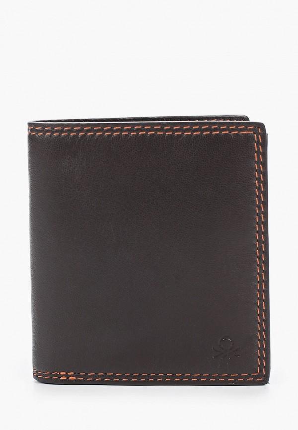 мужской кошелёк united colors of benetton, коричневый