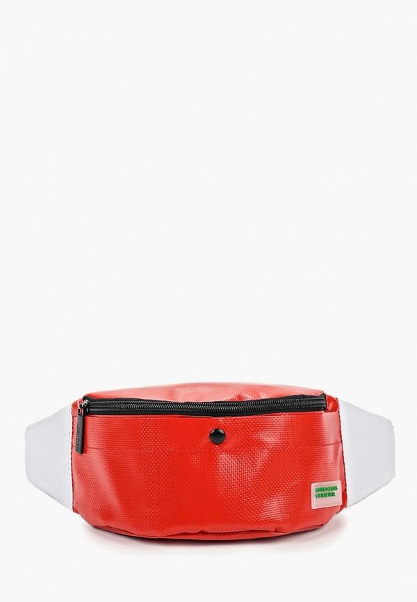 Купить Сумка поясная United Colors of Benetton, un012bwdxqu2, красный, Весна-лето 2019