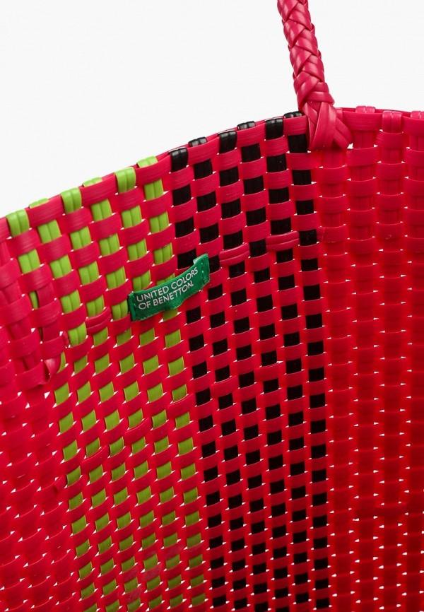 Фото 3 - женскую пляжную сумку United Colors of Benetton розового цвета