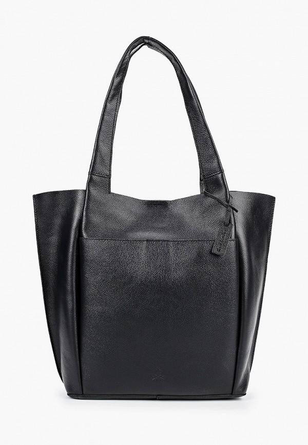 женская сумка-шоперы united colors of benetton, черная