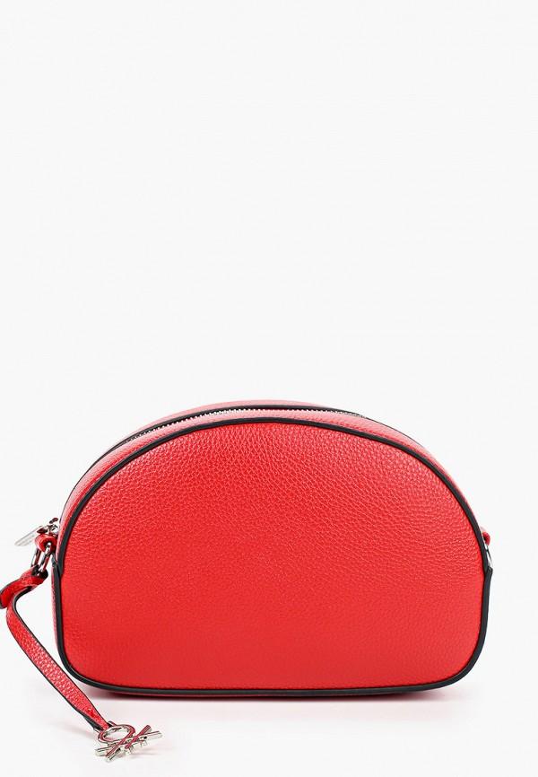 женская сумка через плечо united colors of benetton, красная