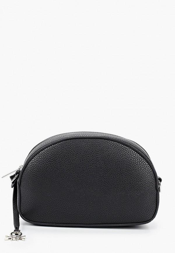 женская сумка united colors of benetton, черная