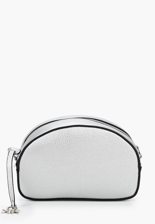 женская сумка через плечо united colors of benetton, серебряная