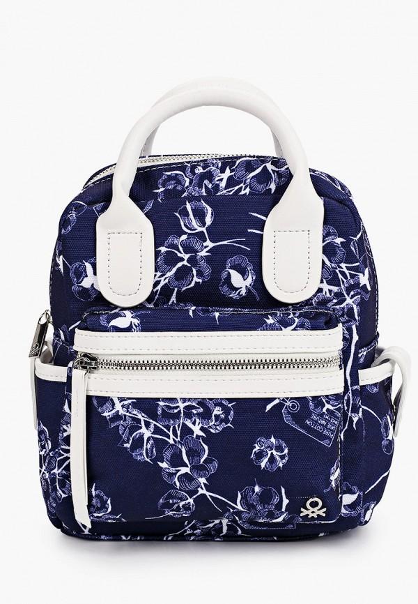 женский рюкзак united colors of benetton, синий