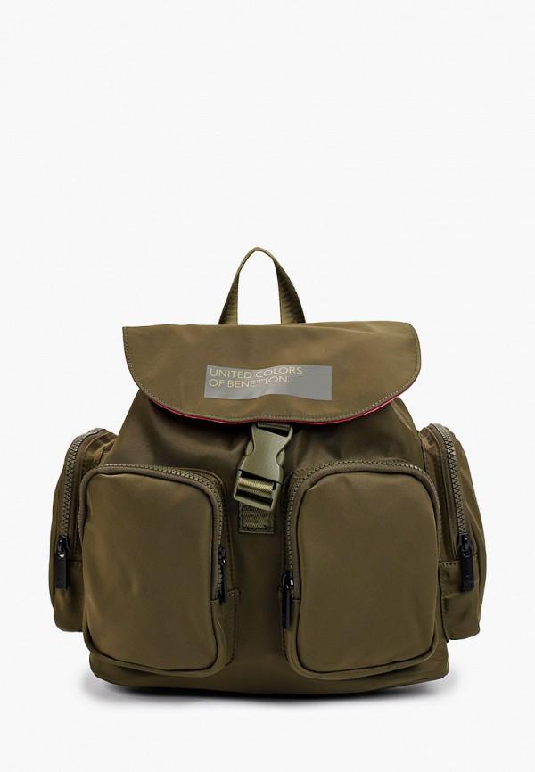 женский рюкзак united colors of benetton, хаки