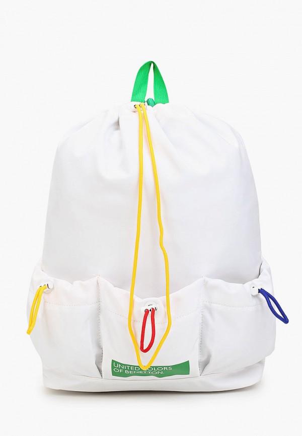 женский рюкзак united colors of benetton, белый