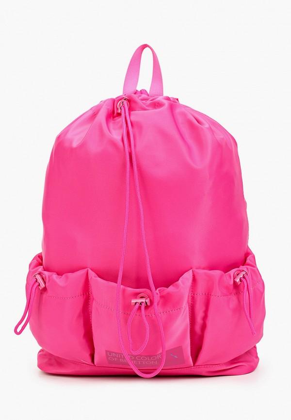 женский рюкзак united colors of benetton, розовый