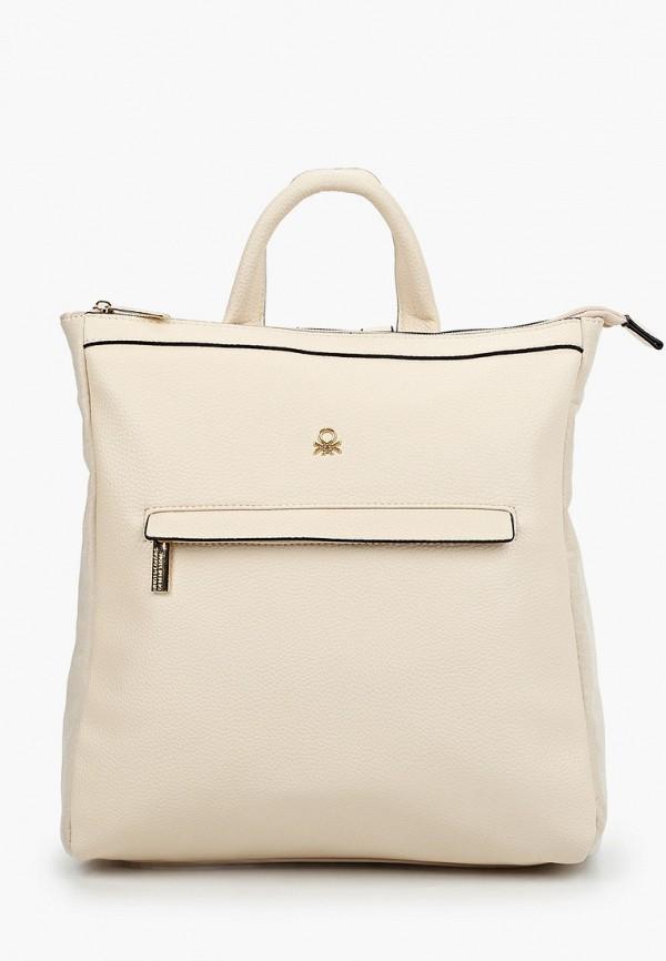 женский рюкзак united colors of benetton, бежевый