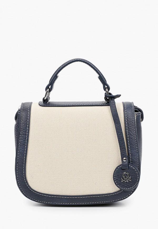 женская сумка через плечо united colors of benetton, бежевая