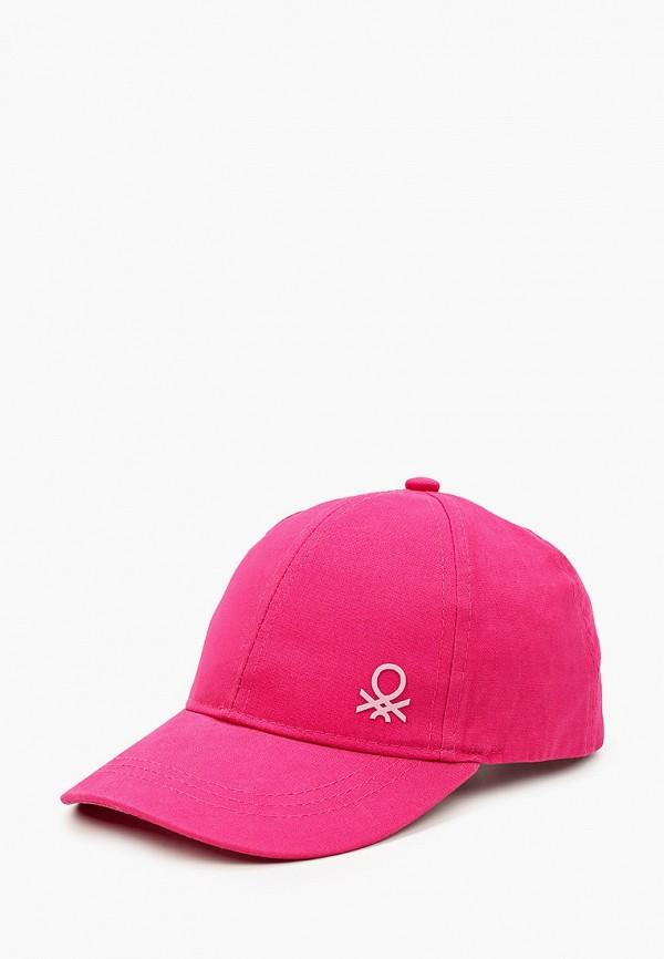 бейсболка united colors of benetton для мальчика, розовая