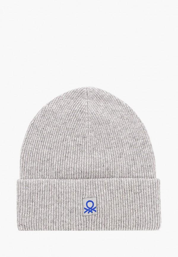 шапка united colors of benetton для мальчика, серая
