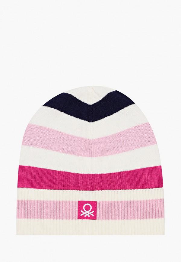 шапка united colors of benetton для девочки, разноцветная