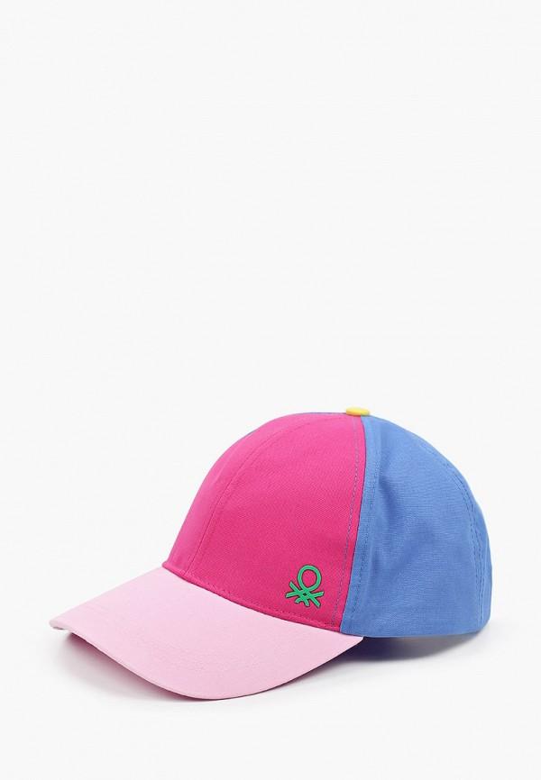 бейсболка united colors of benetton для девочки, разноцветная