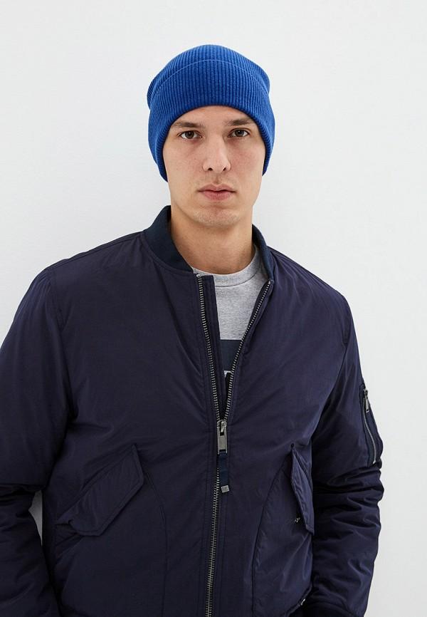 Фото 3 - Мужскую шапку United Colors of Benetton синего цвета