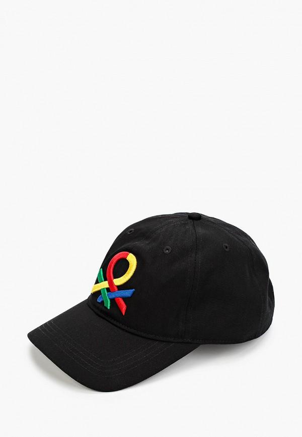 мужская бейсболка united colors of benetton, черная
