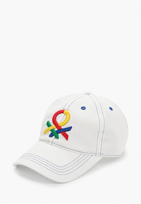 мужская бейсболка united colors of benetton, белая
