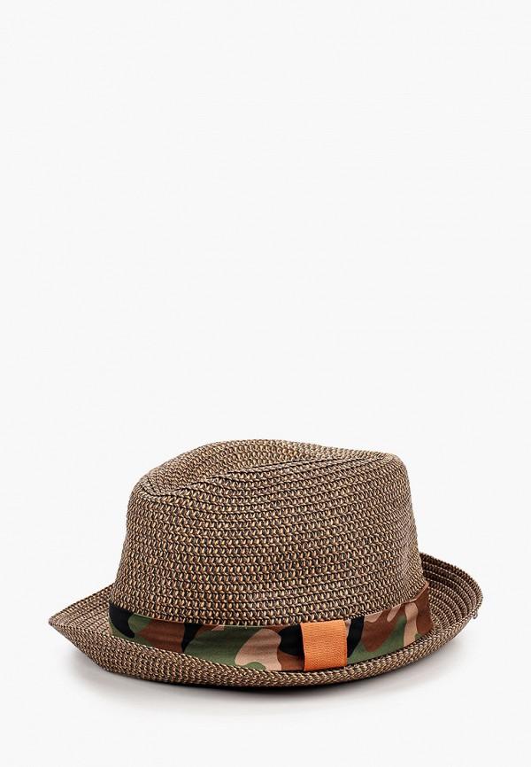 мужская шляпа united colors of benetton, коричневая
