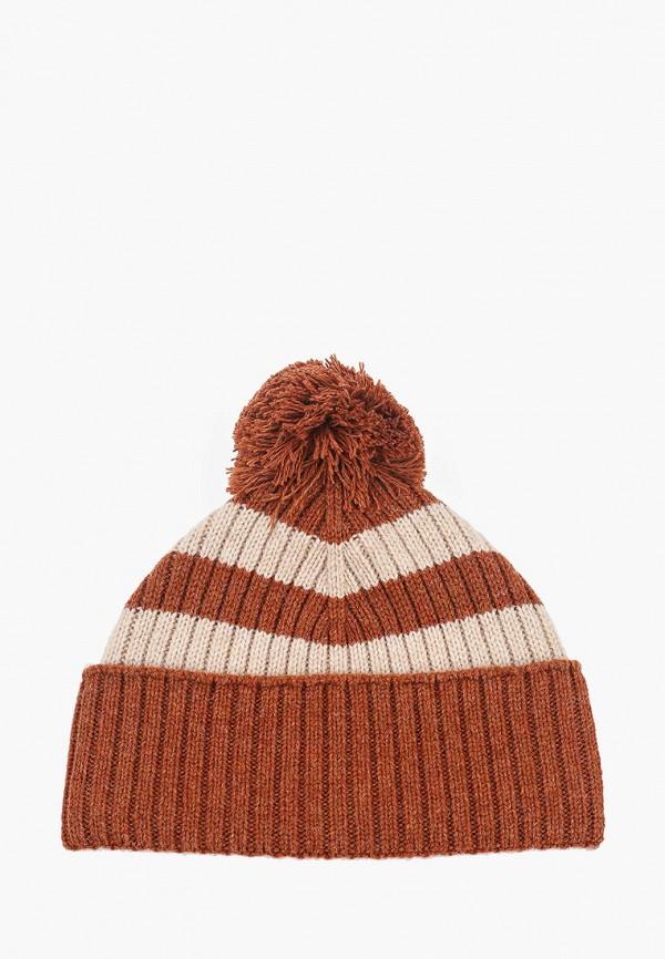 мужская шапка united colors of benetton, коричневая