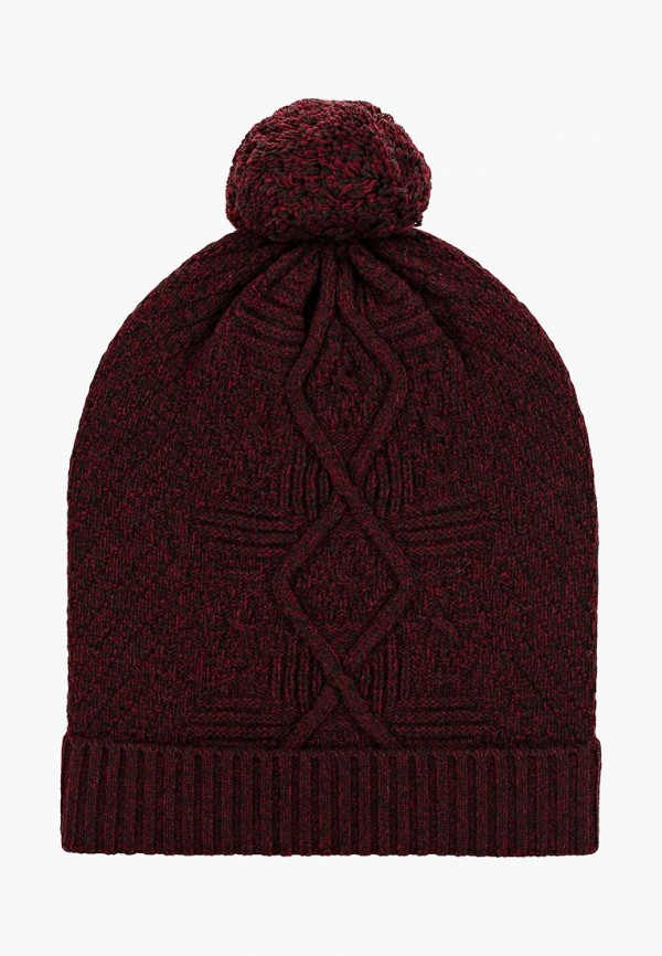 женская шапка united colors of benetton, бордовая