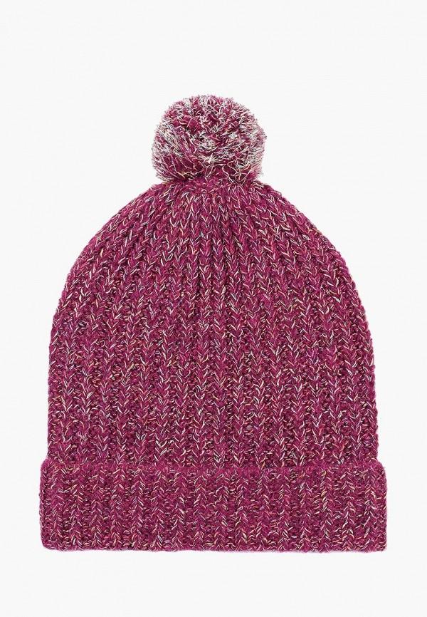 женская шапка united colors of benetton, фиолетовая