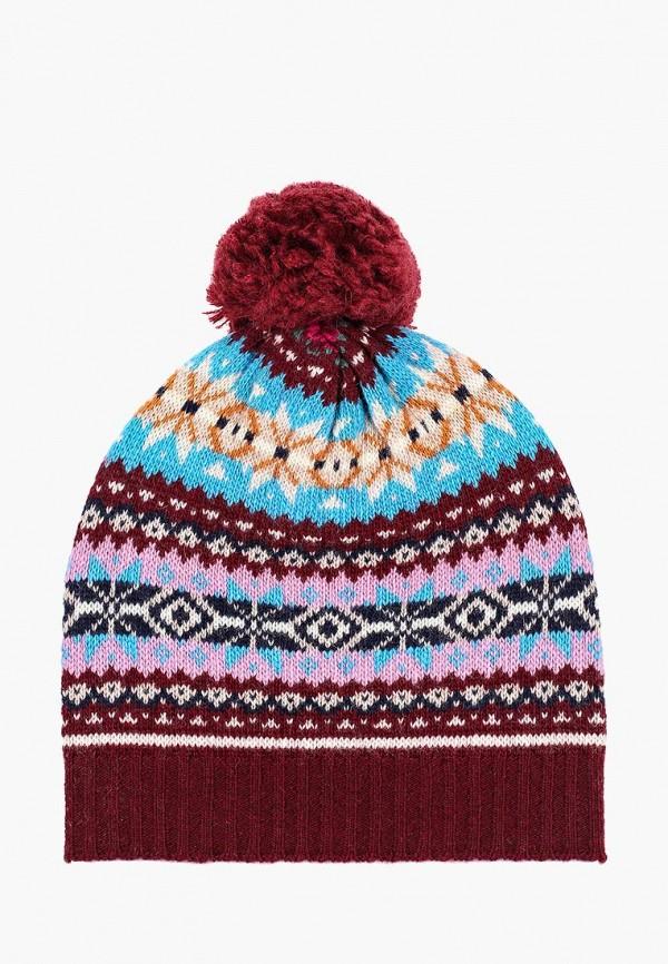 женская шапка united colors of benetton, разноцветная