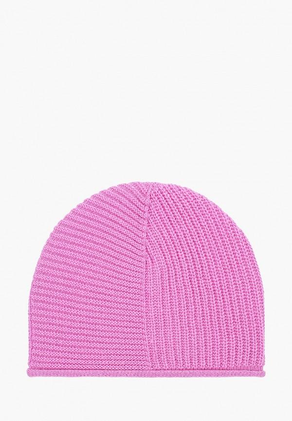 женская шапка united colors of benetton, розовая