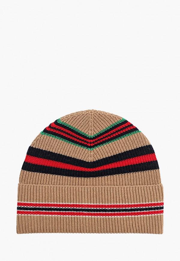 женская шапка united colors of benetton, коричневая