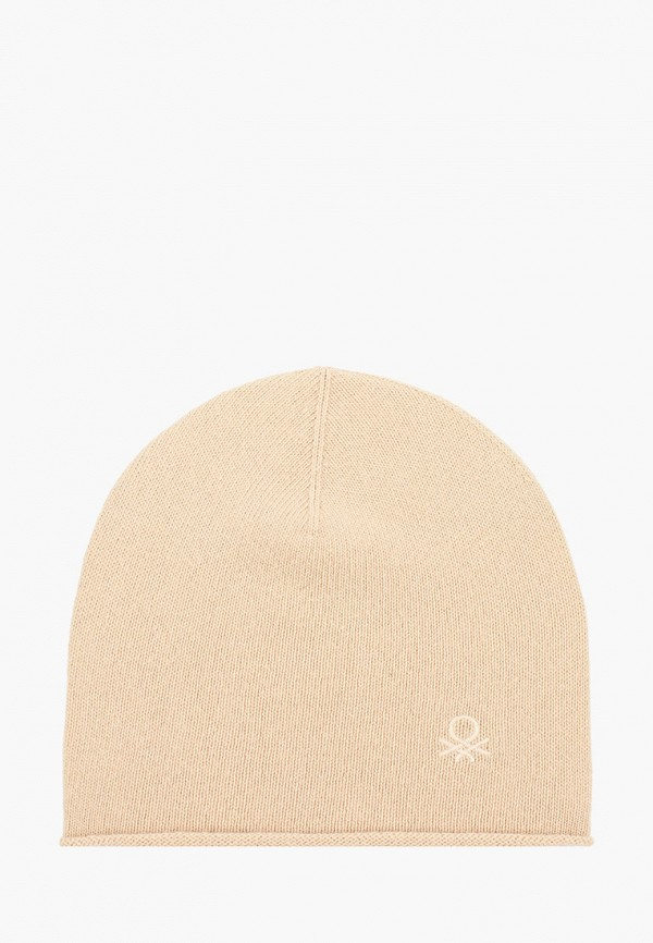 женская шапка united colors of benetton, бежевая