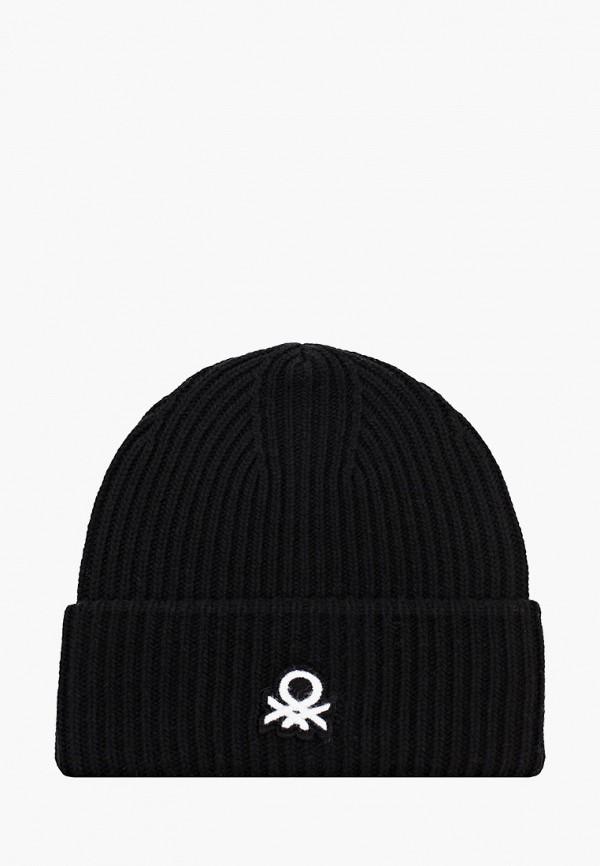 женская шапка united colors of benetton, черная