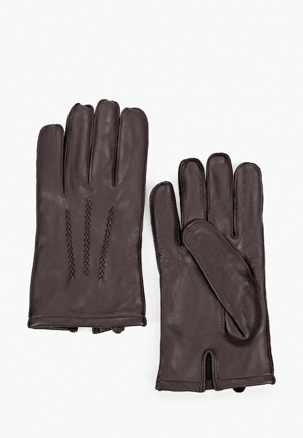 мужские кожаные перчатки united colors of benetton, коричневые