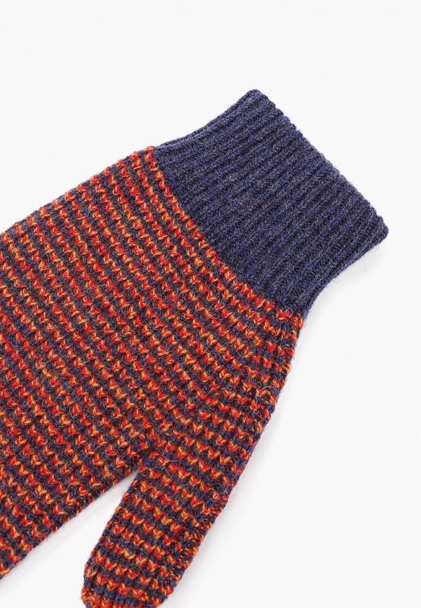 Фото 2 - Женские текстильные перчатки United Colors of Benetton разноцветного цвета