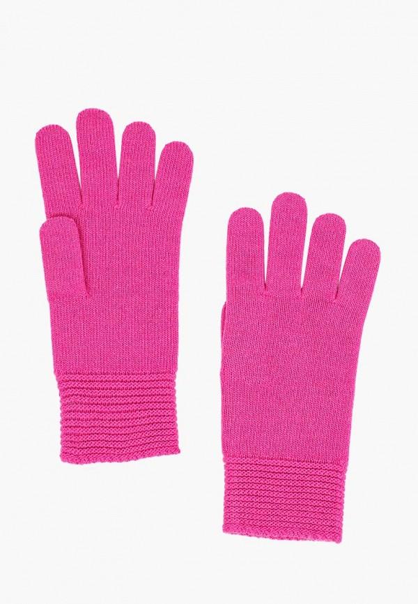 женские перчатки united colors of benetton, розовые