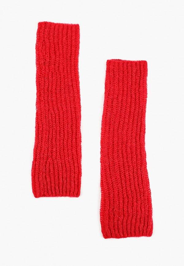 женские митенки united colors of benetton, красные