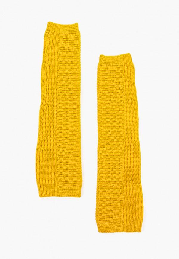 Фото - Женские митенки United Colors of Benetton желтого цвета