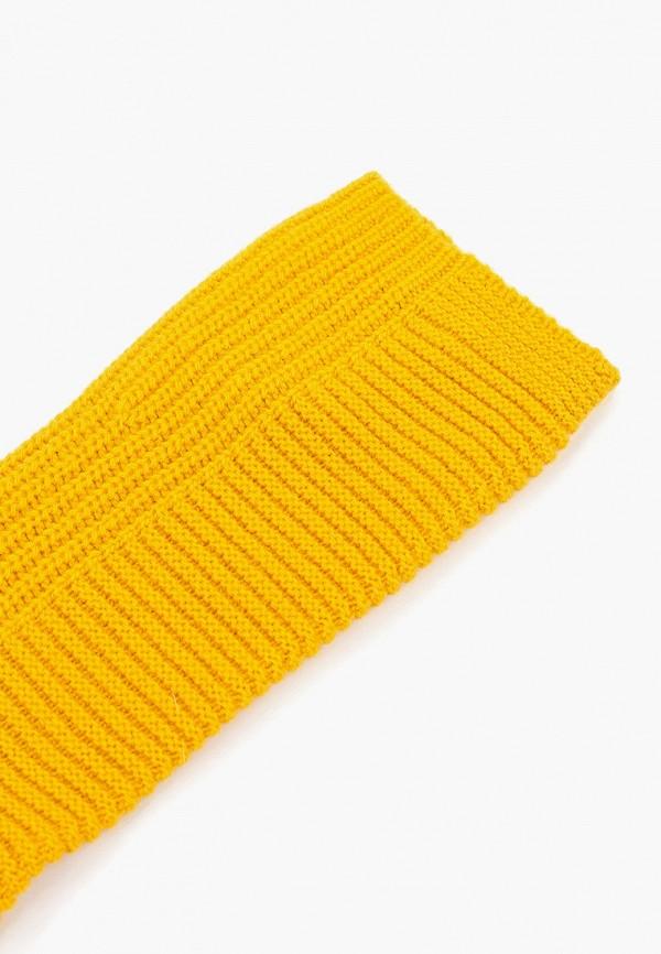 Фото 2 - Женские митенки United Colors of Benetton желтого цвета
