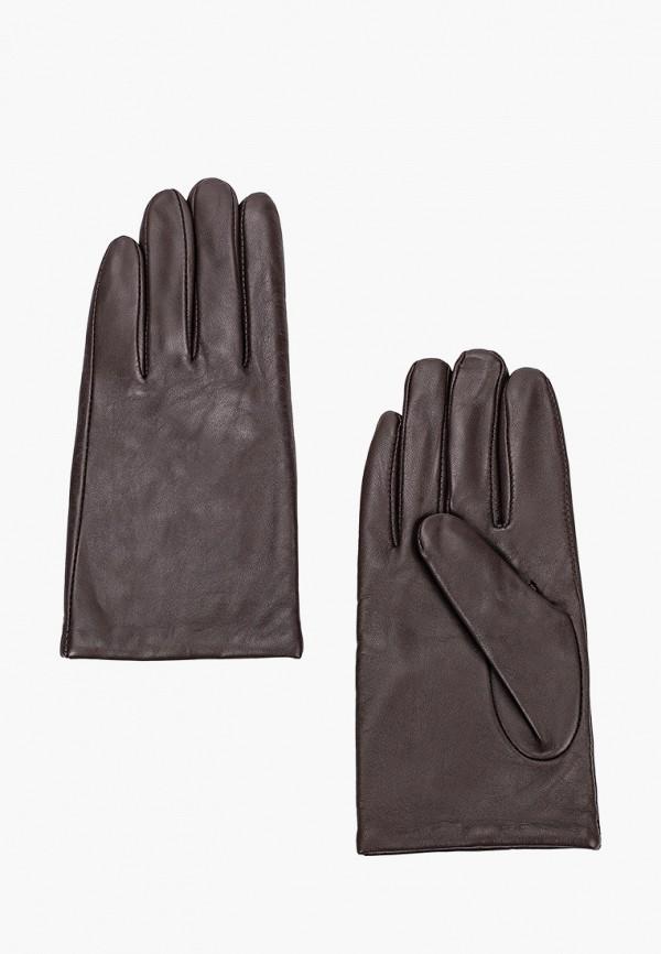 женские кожаные перчатки united colors of benetton, коричневые