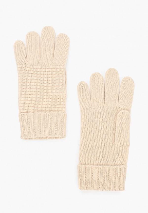 женские текстильные перчатки united colors of benetton, бежевые
