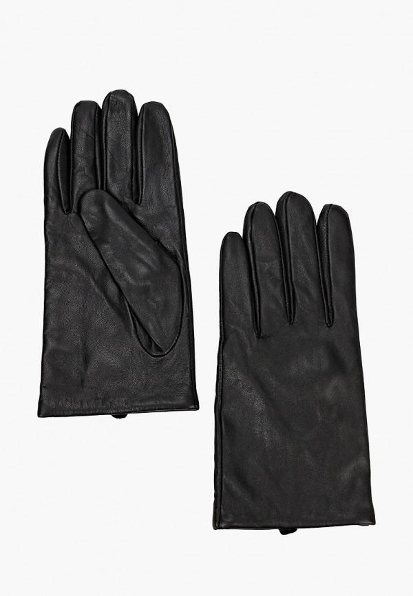 женские кожаные перчатки united colors of benetton, черные