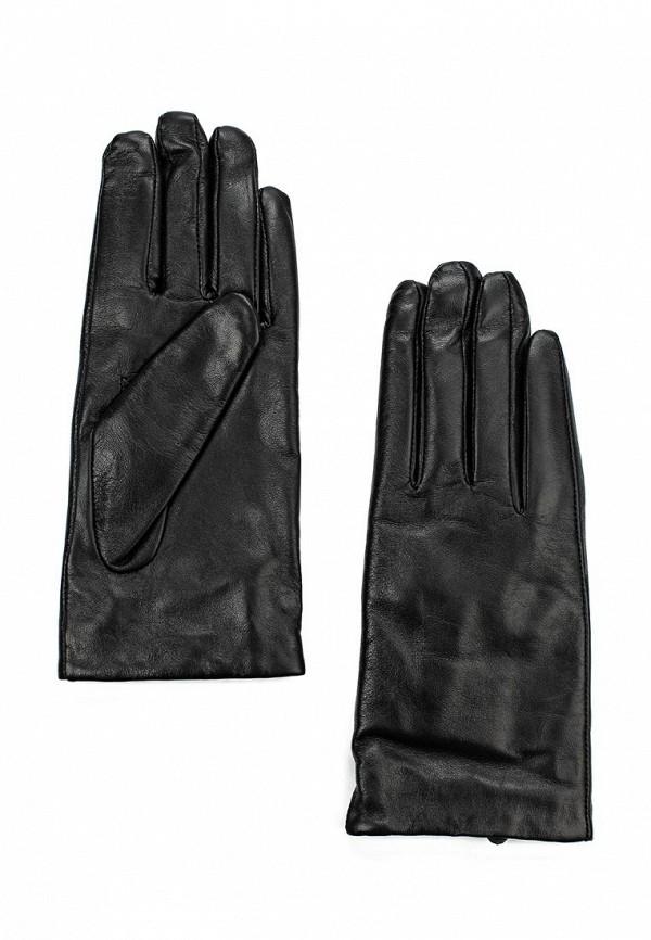 Фото - женские кожаные перчатки United Colors of Benetton черного цвета