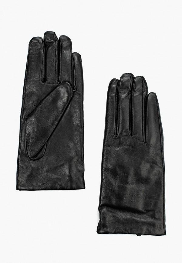 Фото 3 - женские кожаные перчатки United Colors of Benetton черного цвета